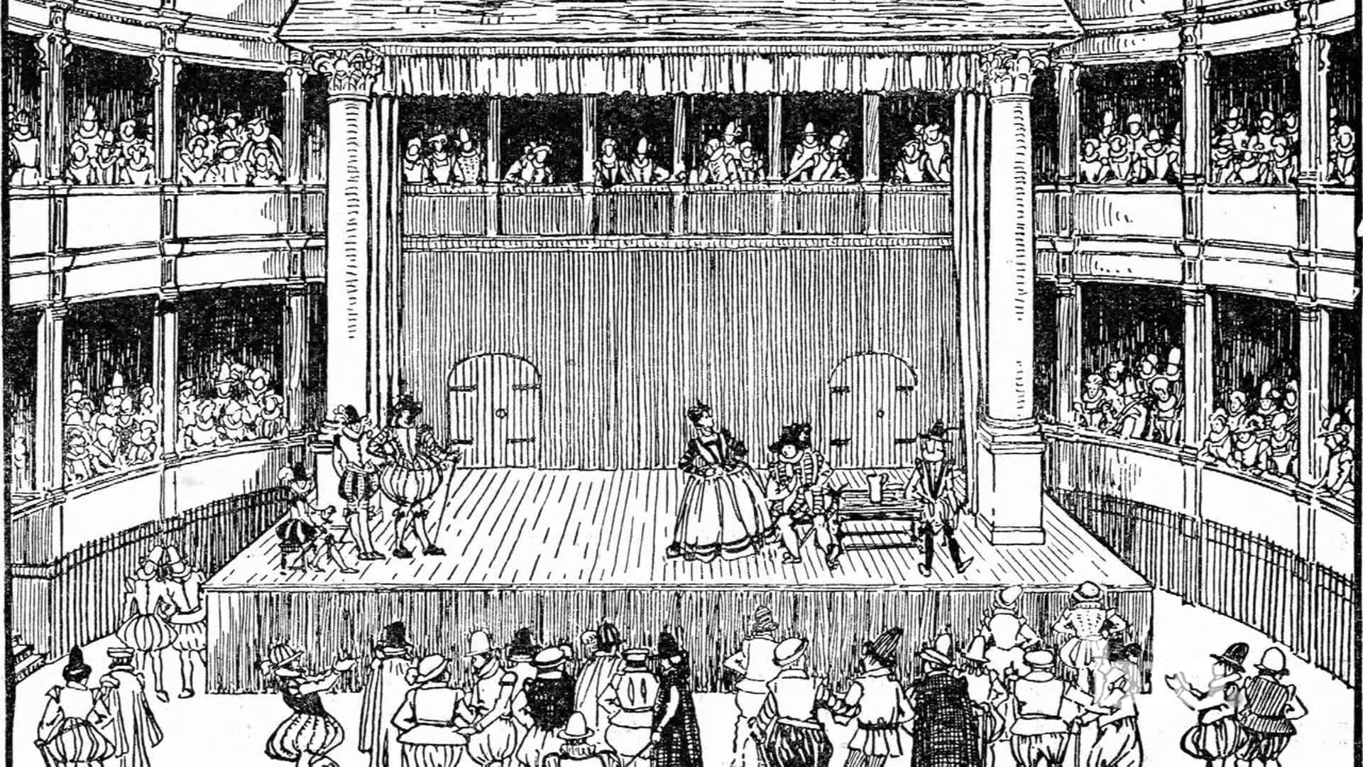 Moartea la Deptford - teatrul - desen