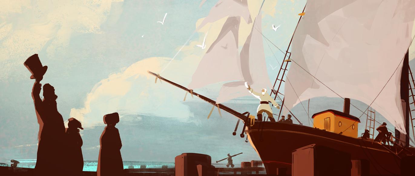 Tout en haut du monde - plecarea navei